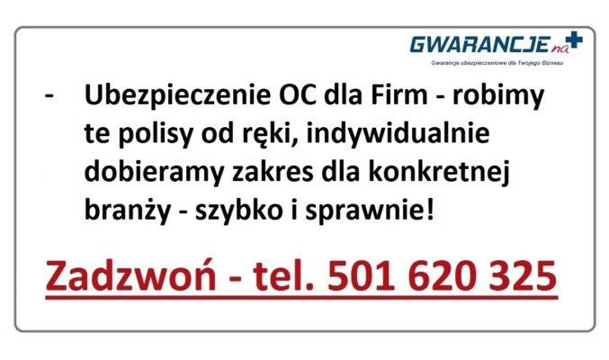 Ubezpieczenie OC działalności Gospodarczej